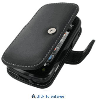 Monaco Black Book Type Leather Cover Case W/Removable belt Clip for Sprint Mytouch 3G Slide ()