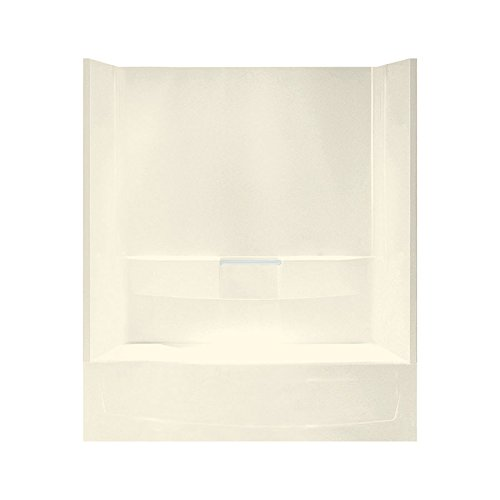 STERLING 71040112-96 Performa Bath and Shower Kit, 60-Inch x 29-Inch x 77.75-Inch, Left-Hand, Biscuit