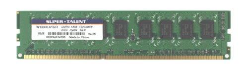 - Super Talent DDR3-1333 1 GB/128X8 ECC Hynix Chip Server Memory W1333EA1GH - Bulk
