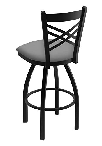 Mimo Life Metal Modern Bar Stool Set of 4 Backless Indoor Outdoor Stackable Stools With Square Seat, 30 Inches High, Yellow