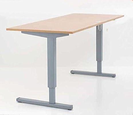 Con mesa de escritorio ajustable eléctricamente óptica 160 x 80 cm ...