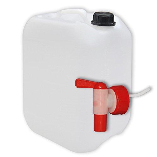 10 Liter Wasserkanister Kanister mit Hahn 10l, DIN 45