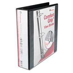 Comfort Grip Deluxe Plus D-Ring View Binder, 2 Capacity, 8-1/2 x 11, (Comfort Grip Unv30731)