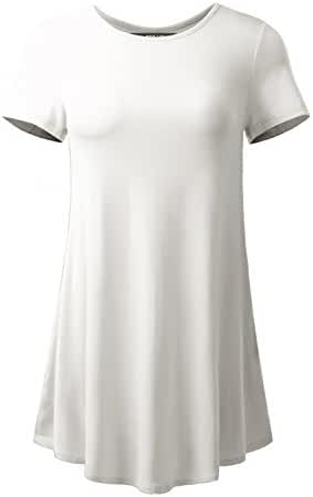 ALL FOR YOU Women's Short Sleeve Flare Tunic Made in USA
