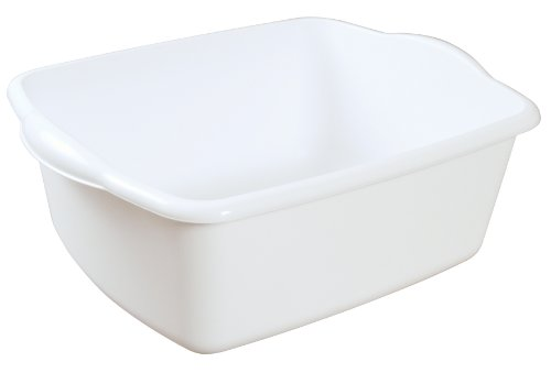 Sterilite 06578012 12-Quart Dish Pan, White, (12 Quart Bucket)