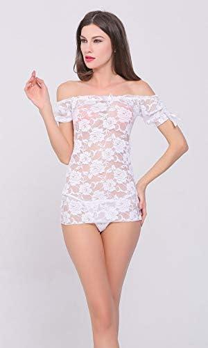 Yulaixuan Femmes des Filets de Nuit Chemise de Nuit Lingerie Maille Trou Chemise Badydoll Stretchy Mini Robe 2-Pack