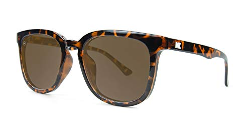 Knockaround Paso Robles Unisex Sunglasses With UV400 Protection, Tortoise Shell Frames/Brown Lenses