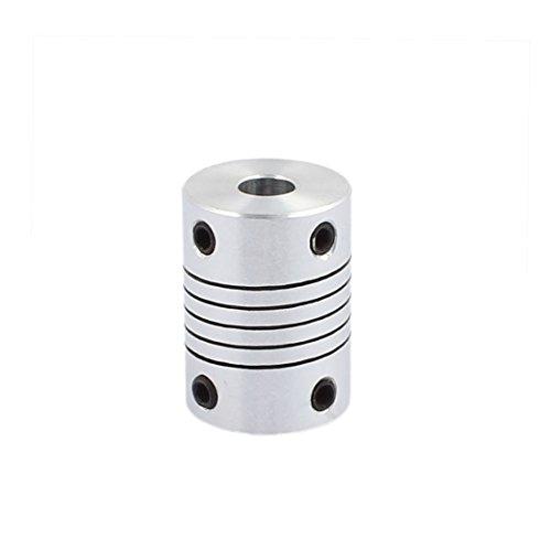 uxcell 5mm to 6mm Shaft Coupling 25mm Length 18mm Diameter Stepper Motor Coupler Aluminum Alloy Joint Connector for 3D Printer CNC Machine DIY Encoder