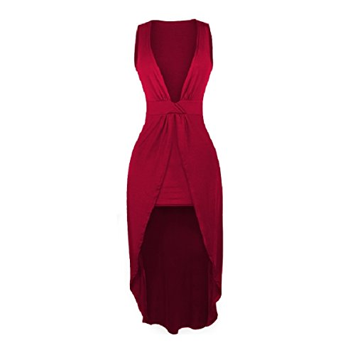 Red Women Party Hem Club Maxi Dress Low Pencil Cocktail Coolred High Long UPnBxxwA