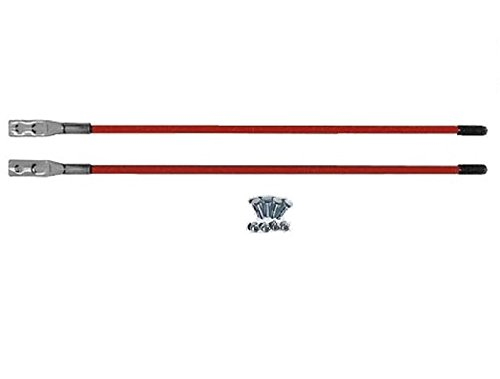 (4) Western Red Universal Snow Plow Guide Stick Markers- Two Pair Complete With Hardware, P/N 62265