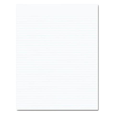 Ampad Evidence Recycled Glue Top 8-1/2 x 11 Pads, Narrow Rule, White, 50 Sheets Per Pad, 12 Pack - Recycled Paper Pads