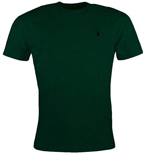 (Ralph Lauren Men's Pony Logo T-Shirt (Black Heather/White Pony) (Medium, Spanish Green))