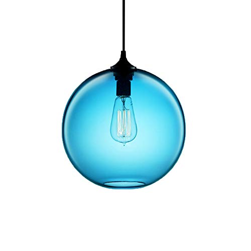 Turquoise Glass Pendant Light