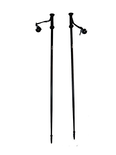 (WSD Alpine Downhill Ski Poles Adult Aluminum with Baskets Pair New, 125 cm/50
