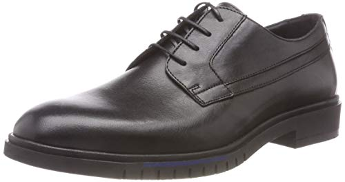 Hilfiger 990 Tommy Leather Uomo Nero Dressy Black Scarpe Flexible Shoe Stringate Derby OqqPdwS