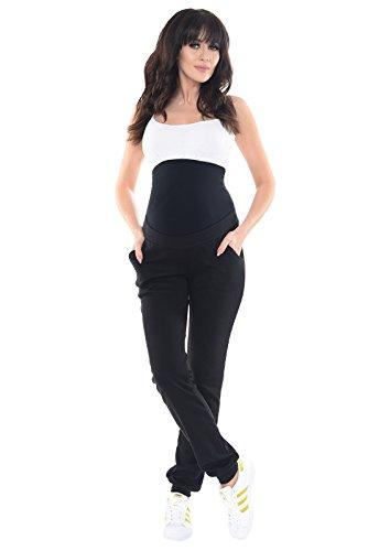 Purpless Maternity Embarazo Cómodo Bajo y Sobre Los Pantalones del Topetón 1321 Black