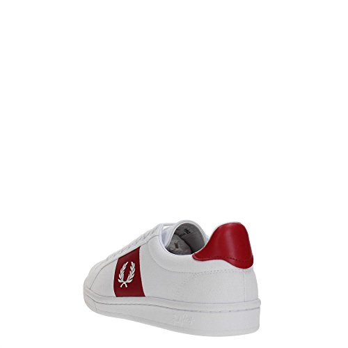 Baskets Fred Perry B3112 Uomo Blanc / Rouge 44