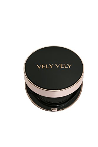 VELY VELY Perfect Cover Cushion 17g 23 Natural Single – Superb Flawless Coverage, Spreads Absorbs Easily, Moisturizing, UV block