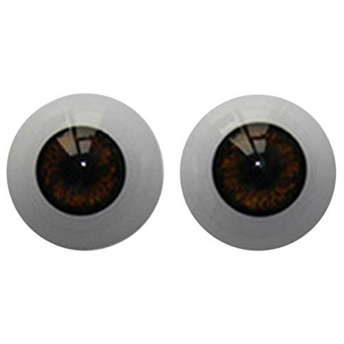 Nesee 22mm-Reborn-Baby-Dolls-Eyes-Half-Round-Acrylic-Eyes-Brown-for-BJD-OOAK-Doll DIY Reborn Baby Dolls Acrylic (Brown)