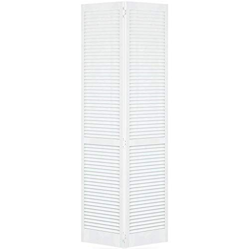 Closet Door, Bi-fold, Kimberly Bay Traditional Louver-Louver White (80x36) (Wood Bifold Doors)