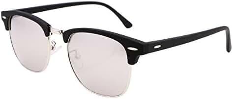 FEISEDY Vintage Half Frame Sunglasses For Men Women Classic Brand Sun Glasses