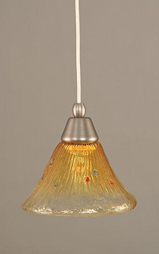 Champagne Bronze Mini Pendant - Cord Mini-Pendant - Gold Champagne Crystal Glass