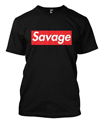 39f2bcf64a72d0 Savage - Lit Ruthless Cold Hearted Men's T-Shirt (Black, XX-Large