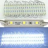 LED Module Lights 100pcs DC 12V 5050 SMD 3-LED Waterproof Module LED Light WHITE
