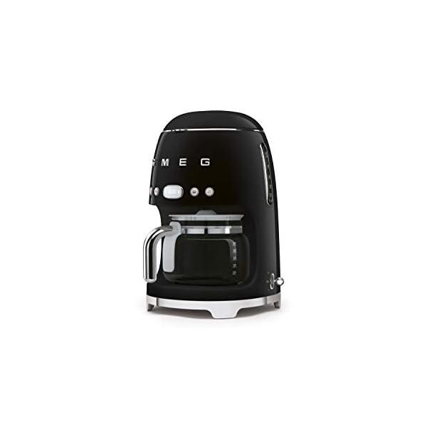Smeg 50's Retro Style Aesthetic Drip Filter Coffee Machine, 10 cups, Black 2