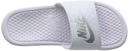 Nike Women's Benassi JDI Slide Beach and Pool Shoes, 7.5 UK White (White)