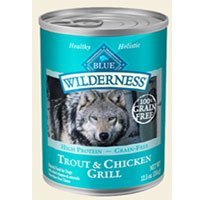 Blue Buffalo Wilderness Trout and Chicken Food, 12 by 12.5 oz.