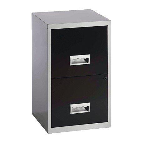 Pierre Henry 217908 - Mueble archivador maxi, 2 cajones, aluminio, color negro: Amazon.es: Oficina y papelería
