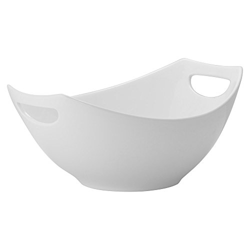 "10 Strawberry Street Highland 11"" x 17"" Handled Bowl, Set of 2, White"