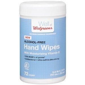 Walgreens Hand Wipes, 72 ea -
