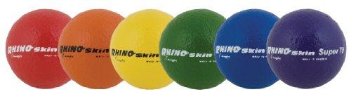 Champion Sports Super 70 Rhino Skin High Bounce Ball, 2.75-Inch - Set of 6, Multi Color