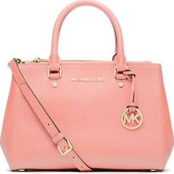 62faf458307a Amazon.com  Michael Kors Sutton SMALL Saffiano Leather Satchel in PALE  PINK  Shoes
