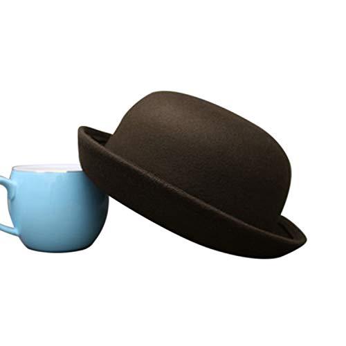 Cherryi Little Girls Fedora Hat Dome Cap Women Adult Children Dress Hats Kids Caps,Children Color 8