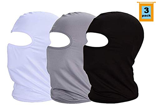 Face Protection Mask - MAYOUTH Summer Balaclava Sun Dust Face Mask Scarf Full Face Cover Neck Gaitrer Breathable Thin Elastic Fabric for Outdoor Sports Work Fishing Hiking Cycling 3pack Gift