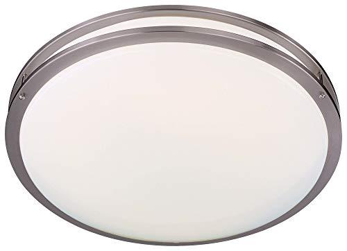 Minka Lavery Flush Mount Ceiling Light 862-84-PL Energy Star Fixture, 2 Light, 72 Watts Fluorescent, Nickel