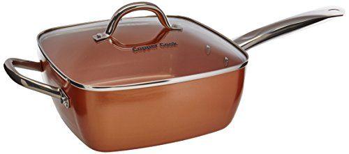 Copper Cook Square Pan 4 in 1 set (Lid Copper 4in)