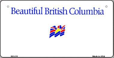 British Columbia State Background Novelty Bicycle License Plate BP-121 by Smart Blonde