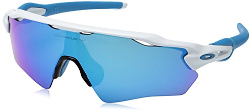 Oakley Boys' Radar Ev Xs Path Non-Polarized Iridium Rectangular Sunglasses, POLISHED WHITE, 31.01 mm