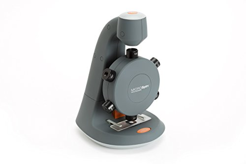 Celestron 44114 MicroSpin Digital Microscope (Grey) by Celestron