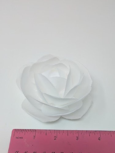 Amazon 3d edible rice paper rose flower for cake decoration 3d 3d edible rice paper rose flower for cake decoration 3d cake toppers white mightylinksfo