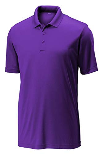 Opna Mens Dry-Fit Golf Polo Shirts,Purple,Large