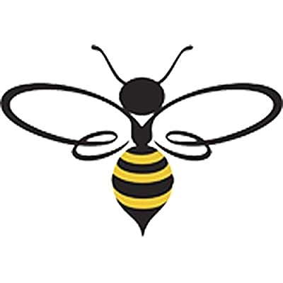 "Pretty Assortment of Bumble Bees Cartoon Art Vinyl Decal Sticker (4"" Wide, Bee #3): Automotive"