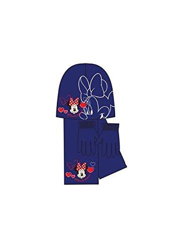 Disney Minnie Maus Kinder Mütze, Schal und Handschuhe Set (01)
