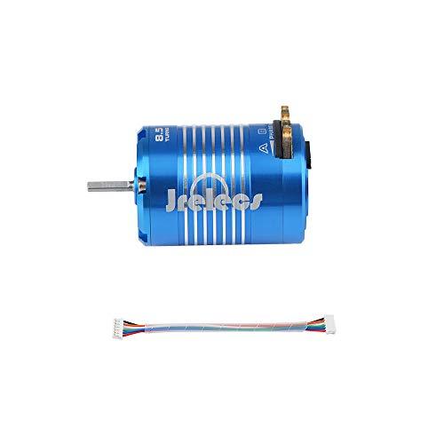 Jrelecs 540 8.5T 4100KV Sensored Brushless Motor for 1/10 RC Car Auto Truck (8.5T) -