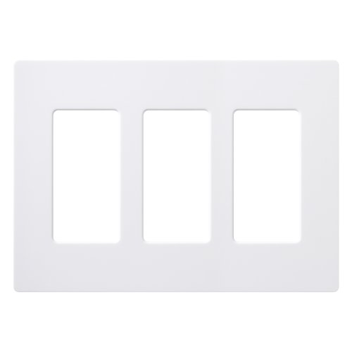 Lutron CW-3-WH-24 Claro 3-Gang Wall Plate, White, 24-Pack by Lutron