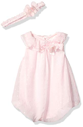 Little Me Baby Girls Bubble Dress with Headband, Pink 3 Months -